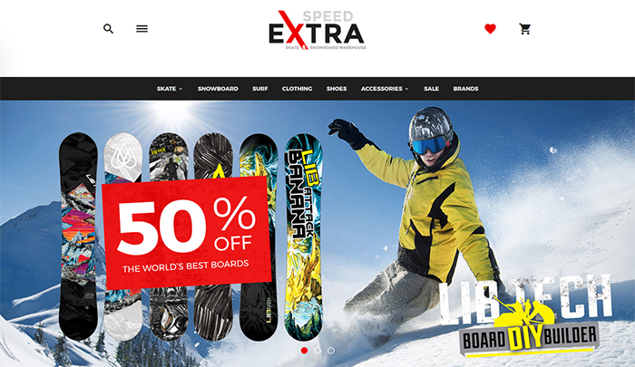 Snowboarding Responsive OpenCart Template