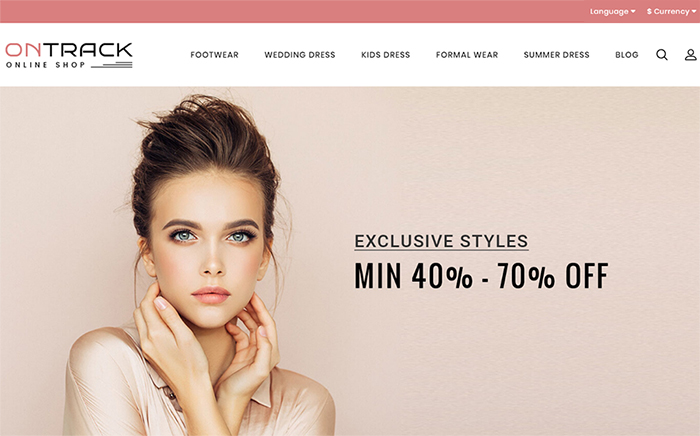 OnTrack - Excellent Fashion OpenCart Template