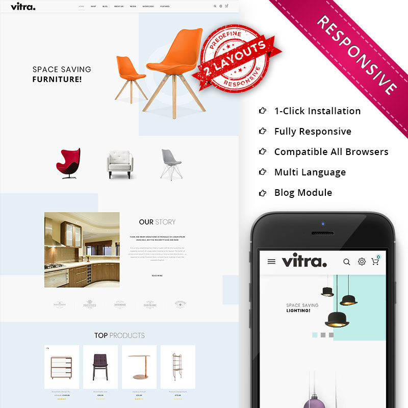 Vitra - The Multipurpose Responsive WooCommerce Theme