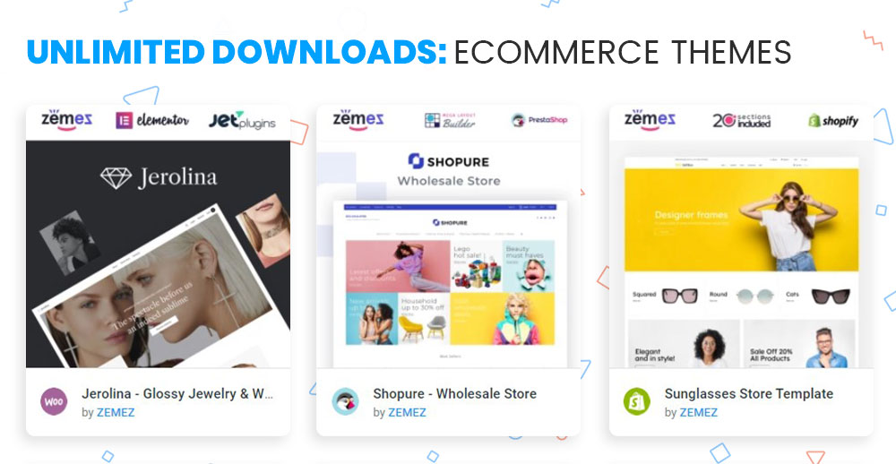 ONE subscription with Ecommerce templates